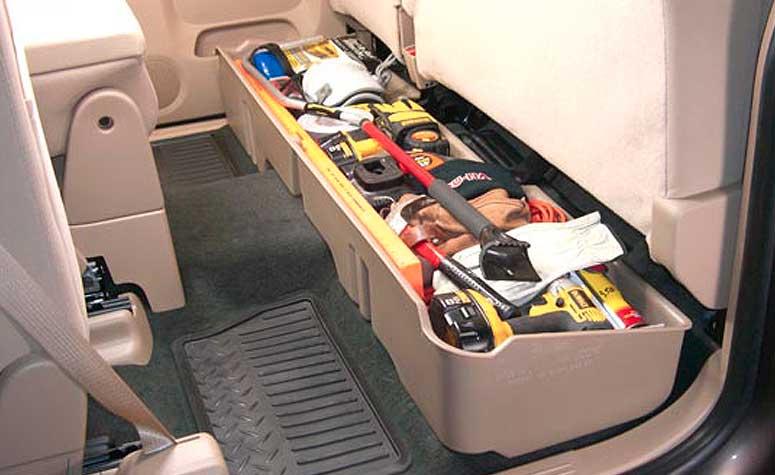 Interior Automotive Storage for Trucks